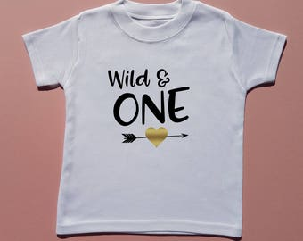 Wild & One Birthday T-shirt - Birthday Girl - Birthday Tee - Toddler Clothing - Children's t-shirt - 1st Birthday