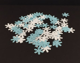Snowflake die cuts/White/Blue/confetti/scrapbooking/card making/embellishments/Parties