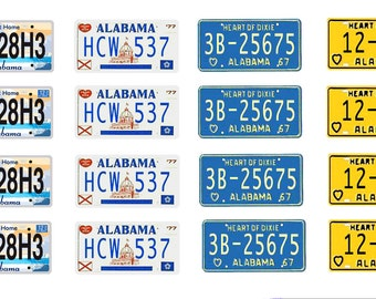 scale model car Alabama license tag plates