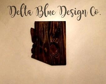 Arizona wood state sign, wood state cutout, wedding gift,