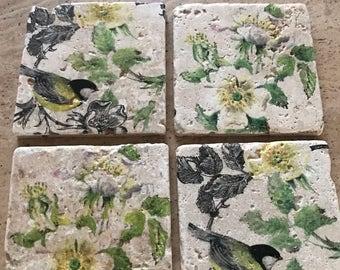 Coasters with Garden Birds