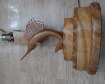 2 beautiful lamps carved in fish