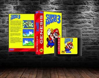 Super Mario Bros 3 - Classic Platforming Adventure for your Genesis - GEN