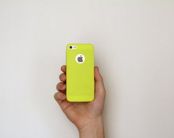 Apple iPhone 5 5S Ultra Thin Slim Minimalist Skin Case Yellow Lime Kiwi