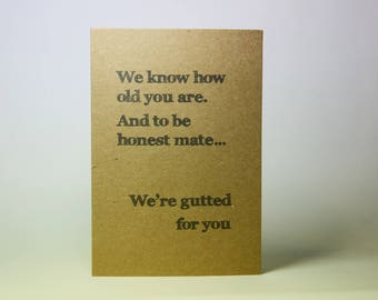 Friend Birthday Card - Card for Men - Birthday Card For Men - Funny Card for Men - Funny Card for Friend - Funny Birthday Card - Birthday