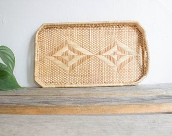 woven grass serving tray