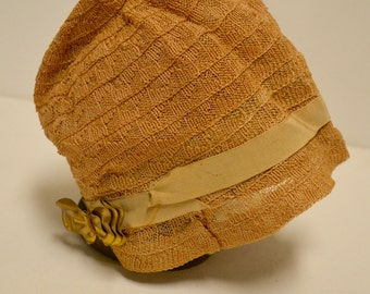 Straw Cloche hat 1920's child or young adult size