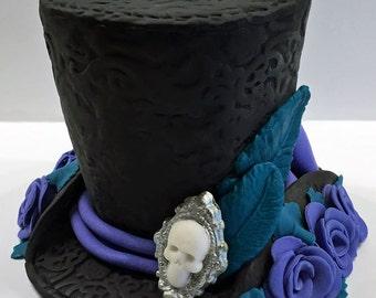 Victorian, steampunk hat cake topper