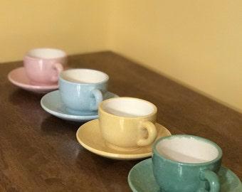 Ceramic Kids Tea Cups - Set of 4