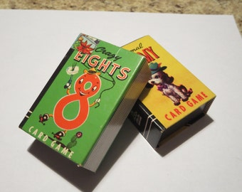 Vintage Card Games Miniature Peter Pan - Crazy Eights and Rummy - Whitman Publishing