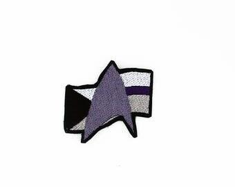 Star Trek Demisexual Pride Patch, Star Trek Pride Patch, Demisexual Pride Flag Patch, Iron on Patch, Sew on Patch, Pride Flag Pin