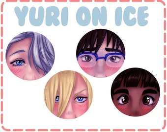 Yuri on Eyes Buttons