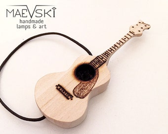 """Acoustic guitar 3"""" Miniature guitar Personalized gift music Musical instrument guitar Miniature dollhouse Easter Personalized for him"""