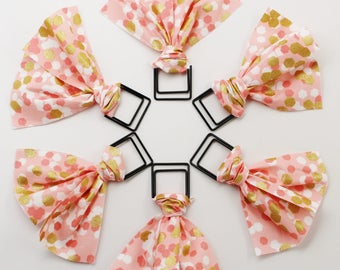 Pink & Gold Hex Paper Clip