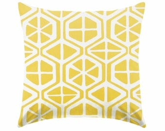 yellow pillow - nautical pillow - citrus pillow - nursery pillow - pillow cover only - cushion cover -ZIPPER CLOSURE
