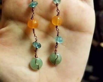 Aqua action - earrings