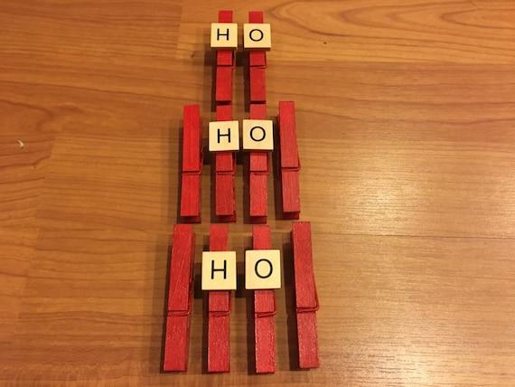 10 Christmas Clothespins