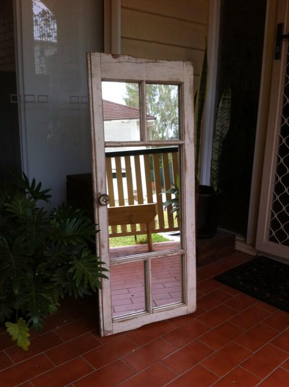 Rustic Patina French Window Mirror