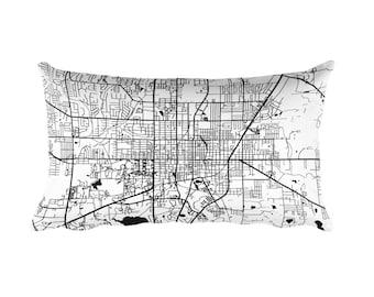 Gainesville Pillow, Gainesville Decor, Gainesville Throw Pillow, Gainesville Gift, Gainesville Map, Gainesville Art, Gainesville FL, Cushion