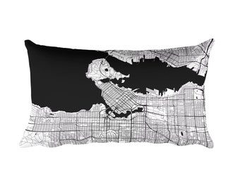 Vancouver Pillow, Vancouver Decor, Vancouver Throw Pillow, Vancouver Gift, Vancouver Map, Vancouver Art, Vancouver BC, Vancouver Canada