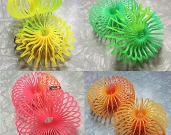 Slinky Earrings // 4 NEON COLORS!