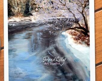 Frozen River Card