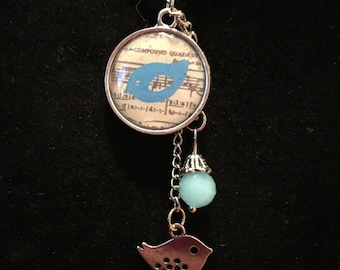 Song Bird Music Charm Necklace