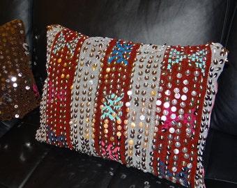 Berber cushion - Berber cushion glitter sequin - handmade - Bohemian - SUPER offer