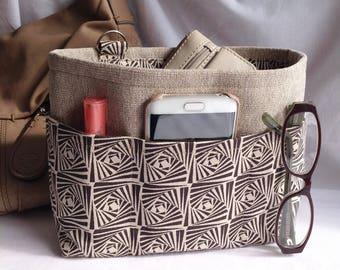 Handbag insert - Bag organiser -Handbag Caddy - Purse insert - 'Kaleidoscope' Print