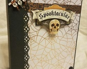 Halloween mini album, halloween mini scrapbook, photo album, memory album, halloween album, halloween photo album, Halloween memory album