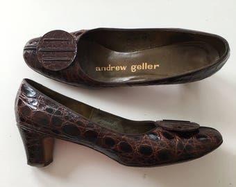 Andrew Geller 50's Alligator Pumps