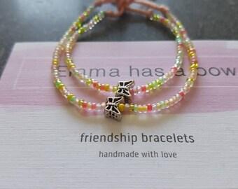 MOM / daughter Freundschaftsbändchen from Miyuki beads with a silver Butterfly