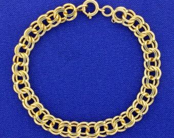 7 1/4 Inch Charm Bracelet 14k yellow gold