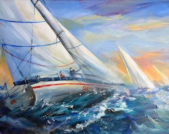 Regatta sea ship sailing home decor