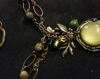 One of a kind Green Glass pendant