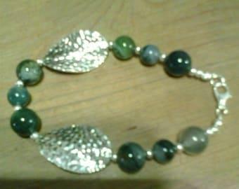 Irish made moss agate bracelet