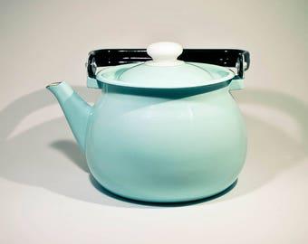 Enamel coffee and tea pot, Enamel kettle, Mint Green enamel coffee pot, Kettle teapot cafetiere coffee pot 2000 ml