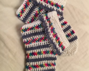 Hand crocheted slippers socks