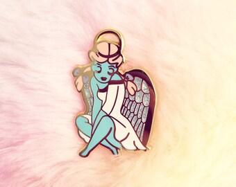 Sensitive Angel Enamel Pin    Lapel Pin   