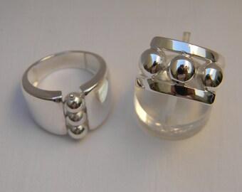 Ring three circles in 925 silver