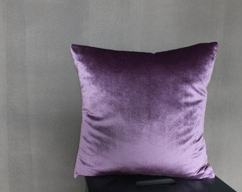 "Decorative Velvet Purple Pillow ""Caramel"""
