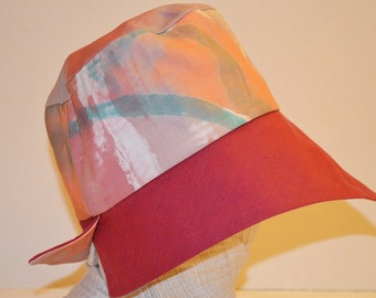 comfortable cotton summer Hat Red laptop