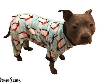 Fleece Dog Pajamas, Dog PJs, Dog Jammies, Dog Clothes, Pet Clothes, Pet Pajamas, Support Animal Rescue, Custom Dog Clothes, Dog Onesie