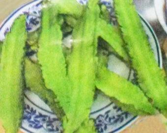 15 Winged Bean Seeds, Goabean, Psophocarpus tetragonolobus HEALTHY FOOD from Thailand