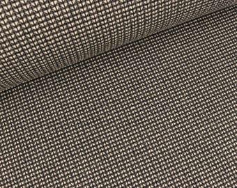 Jacquardjersey knit knit Ministripes carbon black (23.90 EUR / meter)