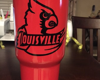 Louisville Cardinals yeti decal