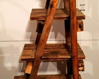 Primitive Ladder Shelf