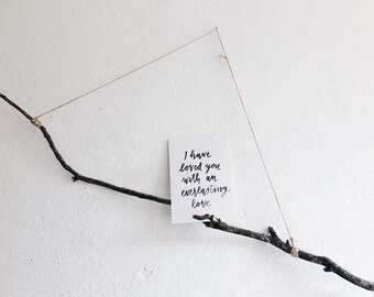 Quote Card A5 'I have loved you with an everlasting love'