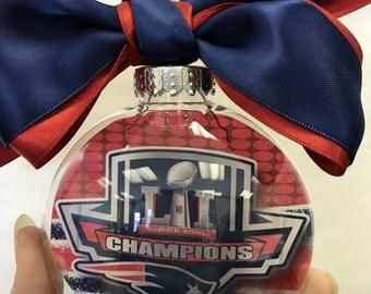 Patriots Super Bowl Champions Ornament