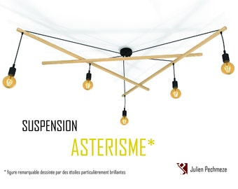 Pendant light Asterism*, black scandinavian chandelier